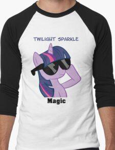 Twilight Sparkle Shades T-Shirt Men's Baseball ¾ T-Shirt