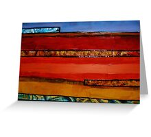 Earth Layers Greeting Card