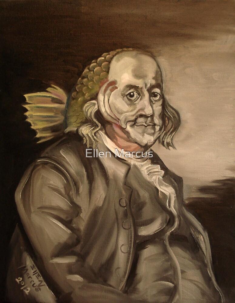 Ben Franklin (as a fish) by Ellen Marcus