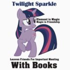 Twilight Sparkle Books T-Shirt by Megavip