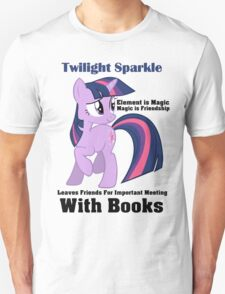 Twilight Sparkle Books T-Shirt T-Shirt