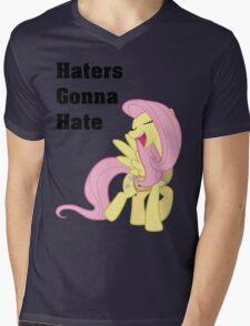 Fluttershy Haters Gonna Hate T-Shirt Mens V-Neck T-Shirt