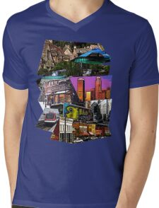 Scenery Collage Mens V-Neck T-Shirt