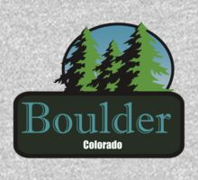 Boulder Colorado t shirt truck stop novelty by Tia Knight