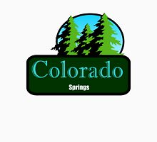 colorado springs t shirt truck stop novelty  Womens Fitted T-Shirt