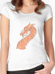 Dragon Swirls Red  Women's Fitted Scoop T-Shirt