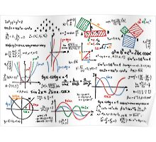 Mathematics Formulas Numbers  Poster