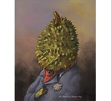The portrait of Durian Gray Photographic Print
