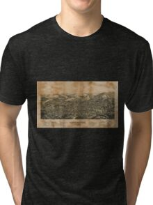 Panoramic Maps Torrington Conn1889 Tri-blend T-Shirt