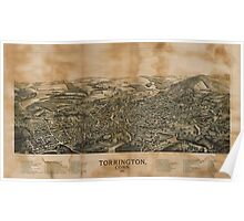 Panoramic Maps Torrington Conn1889 Poster