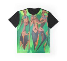 Three Ethnic Traditional Black Women Dancing Graphic T-Shirt