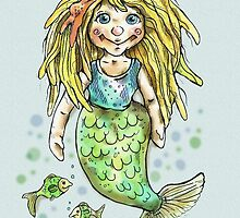 cute mermaid by Renata Lombard