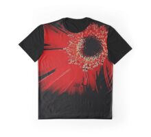 Red Gerbera Abstract Graphic T-Shirt