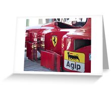 Ferrari 412 T2 Greeting Card