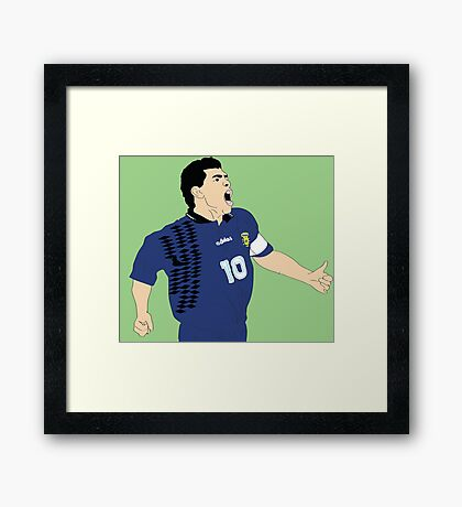 Maradona World Cup '94 Framed Print