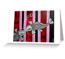 2 Koi Fish In Love Greeting Card