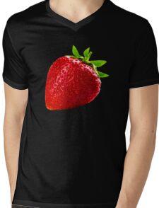 Giant Strawberry Mens V-Neck T-Shirt