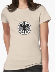 Retro German Football Badge Womens Fitted T-Shirt