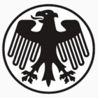Retro German Football Badge by John Dickson