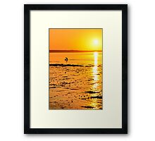 Skerries Sunset Silhouette Framed Print
