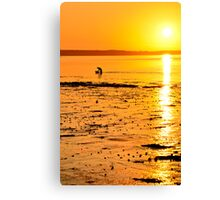 Skerries Sunset Silhouette Canvas Print