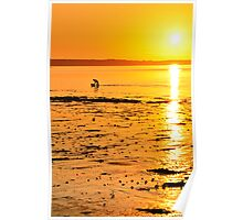 Skerries Sunset Silhouette Poster