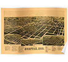 Panoramic Maps 1889 perspective map of Norfolk Neb Poster