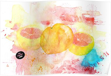 Pink grapefruit by Sue Brown