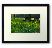 Sit Among The Wild Flowers Framed Print