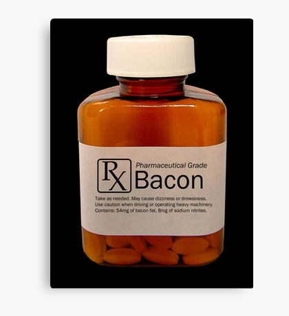 Pharmaceutical Bacon Canvas Print