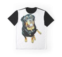 Rottweiler Photo Portrait Graphic T-Shirt