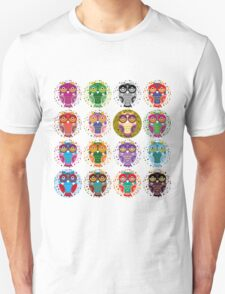 funny colorful owls T-Shirt