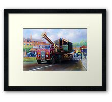 ERF low-loader Framed Print
