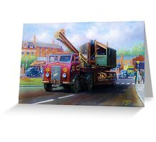 ERF low-loader Greeting Card