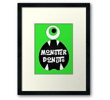 Monster Donut Framed Print