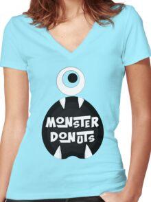 Monster Donut Women's Fitted V-Neck T-Shirt