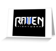 Raven fightwear Greeting Card
