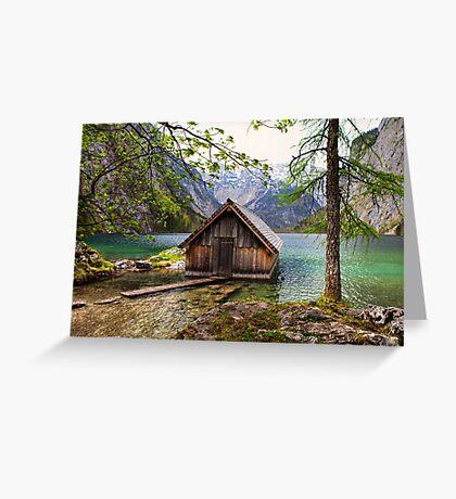 Framed boathouse Greeting Card