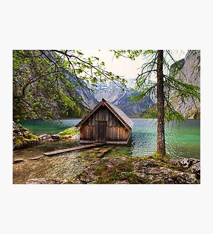 Framed boathouse Photographic Print