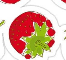 strawberries on white background Sticker