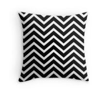 Black and White Chevron Stripe Pillow Throw Pillow