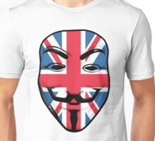 Guy Fawkes British Flag Unisex T-Shirt