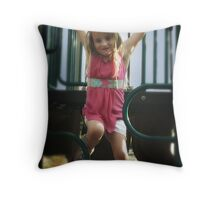 Please try to never grow up Throw Pillow