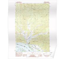 USGS Topo Map Washington State WA Shamokawa 243680 1985 24000 Poster
