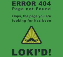 Error 404 Loki'd! by sirwatson