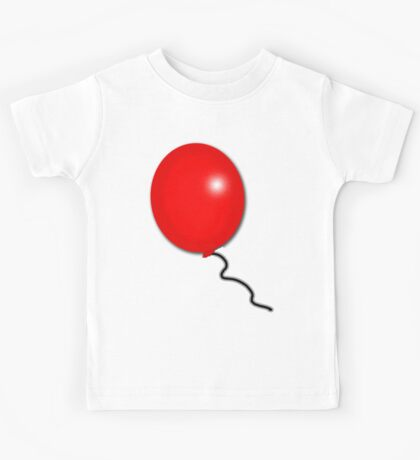 Bright and Shiny Red Balloon Kids Tee