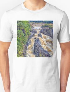 Raging  water over Barron Falls Unisex T-Shirt