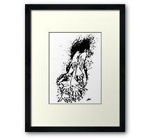 The Last Caress (white) Framed Print