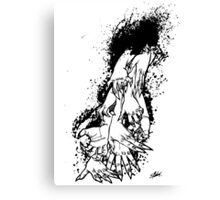 The Last Caress (white) Canvas Print