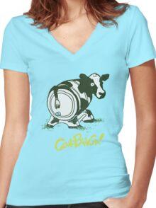 Cowabunga! Women's Fitted V-Neck T-Shirt